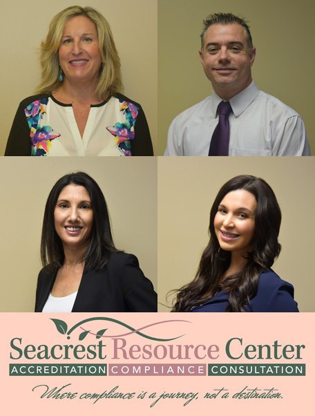 Seacrest Resource Center has over 30 years experience in Behavioral Health Care Services specializing in accreditation and quality assurance. Linda Potere, CEO, has served in administrative positions in licensed and accredited community mental health centers, psychiatric hospitals, and substance abuse treatment programs.